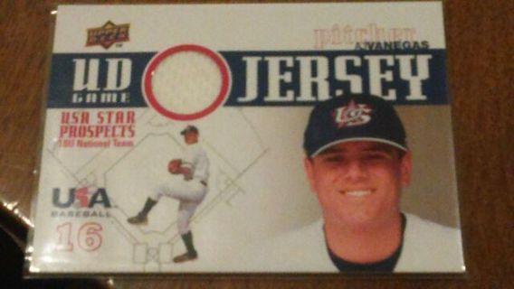 AJ Vanegas relic card