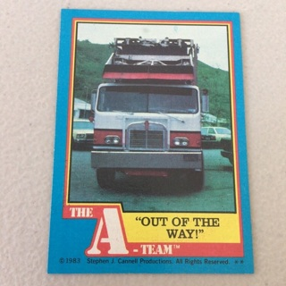 """1983 Topps The A-Team - [Base] #35 """"Out Of The Way"""""""
