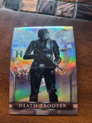 2018 Topps Finest Star Wars refractor Death Trooper