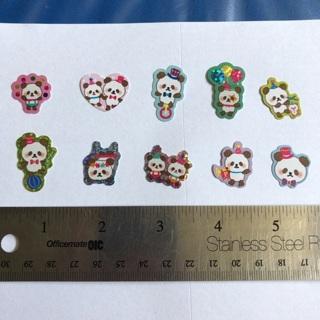 Panda Cream Kawaii Sticker Flakes NEW