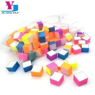60pcs/bag Nail file Block Lima Para Manicura Nagel Vijl Buffer Mini Sandpaper Sponge Irregular Siz