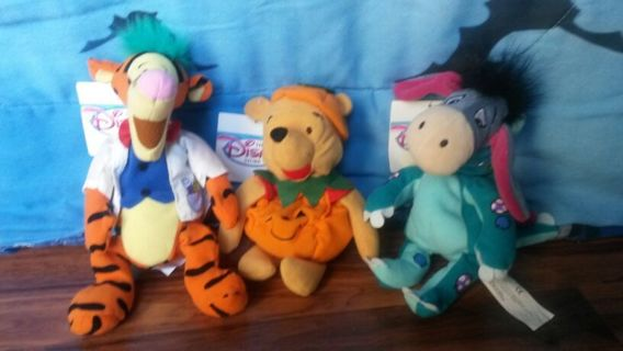 "Winnie the Pooh and friends 9"" halloween beanies DISNEY"