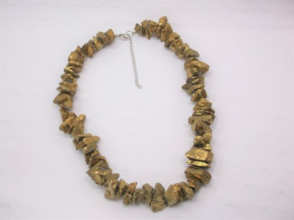 Halloween Faux Golden Nugget Necklace - Thick Heavy