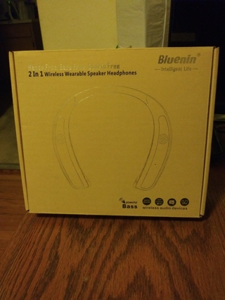 hands free ears free sports free 2 in 1 wireless speaker headphones brand new