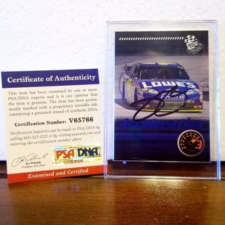 JIMMIE JOHNSON 48 = PSA/DNA Certified Authentic Autographed trading card > NASCAR LEGEND! *awesome
