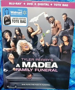 Madea Family Funeral Blu-Ray DVD Digital Combo with Limited Edition Tote Bag