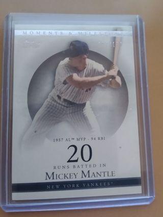 2007 Moments /Milestones Mickey Mantle seq#052/150