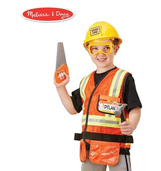 Melissa & Doug Construction Worker Role-Play Costume Set