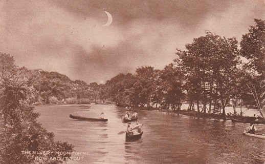 Vintage Used Postcard: 1910 A Silvery Moon For me