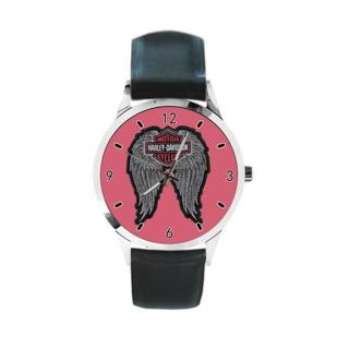 Harley Davidson Logo Custom New Modern Women Or Men's Personalized Leather Leisure Unisex Watch