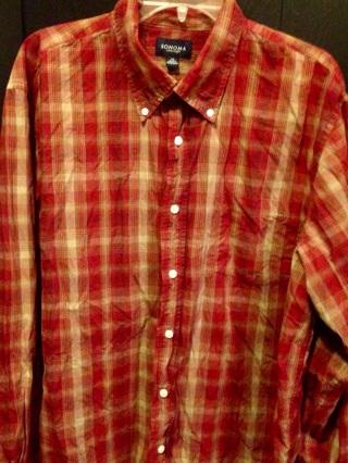Sonoma woman's plaid shirt