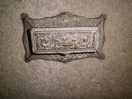 ANTIQUE STAMP HOLDER GRT COND, UNDERNEATH NEEDS CLEANING