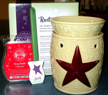 Large Scentsy Warmer Rustic Star W Bar More