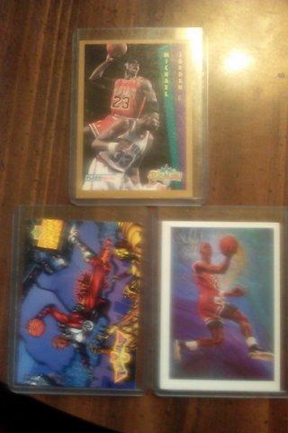 Lot of 3 Michael Jordan Basketball Cards