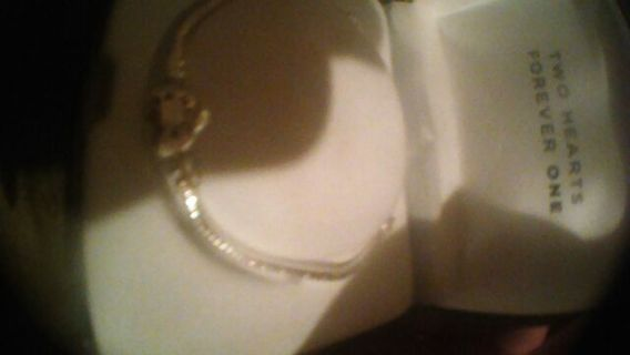 """❤Beautiful Sterling charm bracelet """",Pandora""""with a heart clasp❤"""