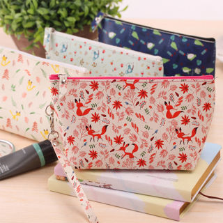Hot Forest Animals PU 20*13CM Big Volume Wrist Cosmetics Pouch Bags Purses