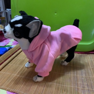 Pink Dog Hoodie (ship from USA)