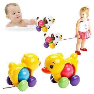 1 Pcs Plastic Traditional Pull Along Duck Baby Learn Walk Toddler Toy D