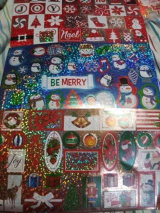 Christmas sparkle stickers 3 sheets Lowest gins No refund! No lower selling out deals!