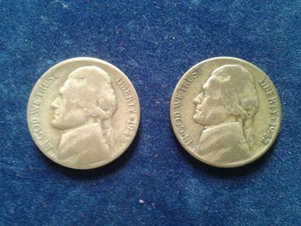 Silver Wartime Nickels