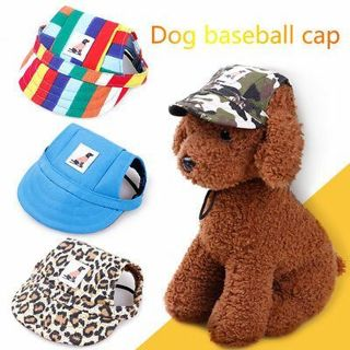 Pet Dog Hat Baseball Hat Summer Canvas Cap For Pet Dog Outdoor Accessories