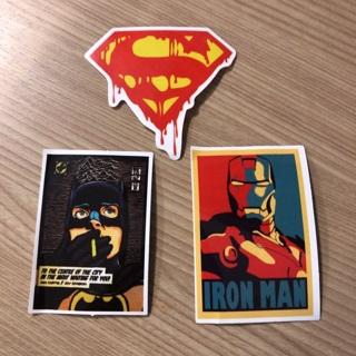 Cartoons Stickers Super Hero  Lot of 3 Stickers