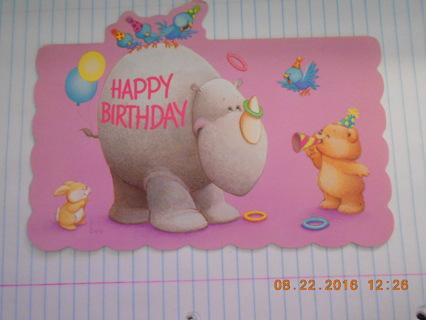 Child's Birthday Card. NO GIN