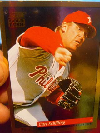 Curt Schilling Score Gold Rush Baseball Card