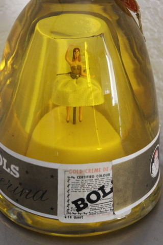 Vintage BOLS Dancing Ballerina White Dress Collectible Bottle Offered As Décor ONLY!
