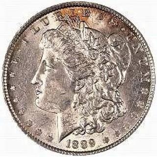 1889 S Morgan Dollar Replica, same dimensions COPY