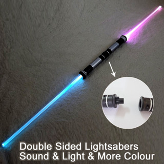 2 Pieces Sound Star Wars Lightsaber Cosplay Props Kids Double Light Saber Toy Sword