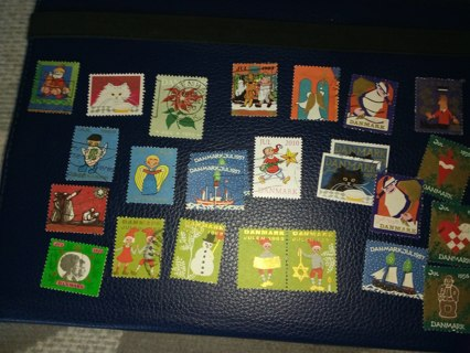 25 old JUL stamps from Denmark