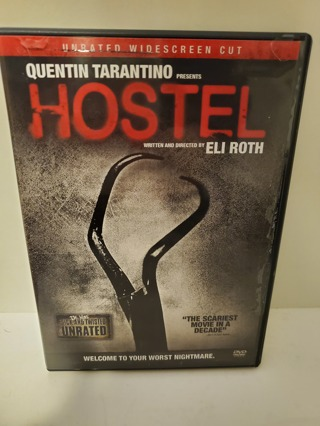 "DVD - ""Hostel"" - not rated"