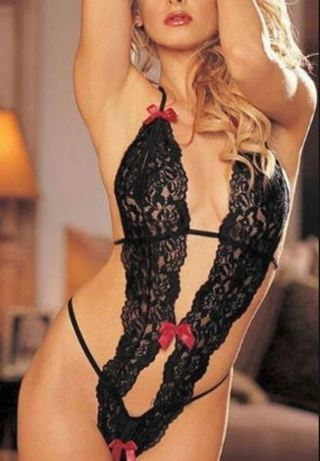 NEW Sexy Lace Ribbon Lingerie Hot G String Bedroom Spice Couple