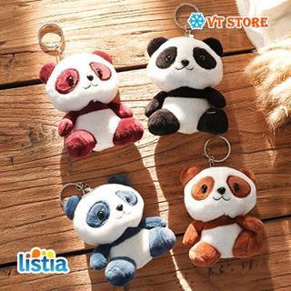 10cm Cute Cartoon Panda Plush Stuffed Animal Toys For Baby Infant Soft Cute Lovely Doll Gift Present