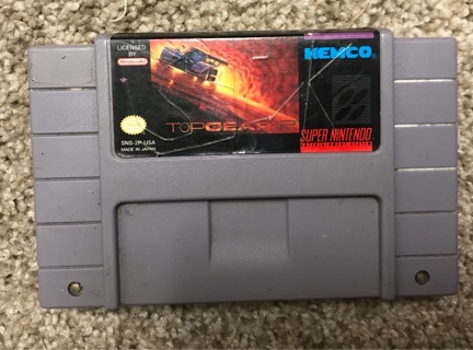 Top gear 2 SNES Super Nintendo