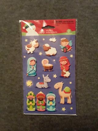 Christmas Stickers - Nativity Set
