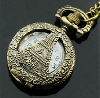 Fashion Charm Jewelry Pocket Watch Special Pendant Necklace 30inch Chain
