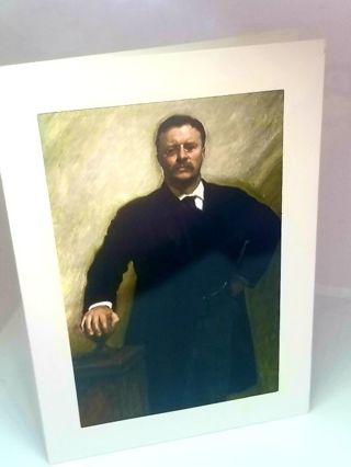 Theodore Roosevelt blank greeting card mated 5x7 art print New Free ship