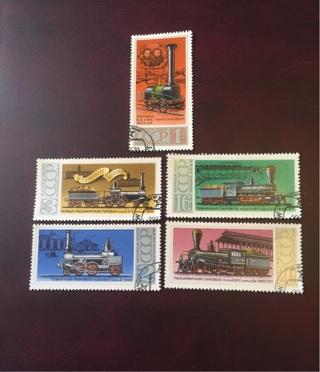 1978 Russia set of 5 locomotives
