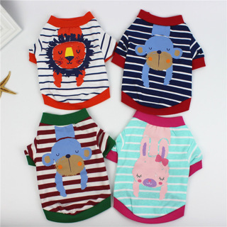 Pet Clothes Summer Dog Clothing Cat Puppy Costume Poodle Bichon Pet Apparel Striped