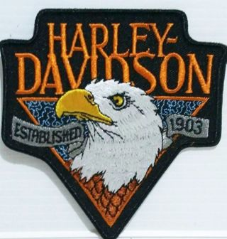 "Harley Davidson Motorcycles IRON ON PATCH ""Established 1903"" FREE SHIPPING"