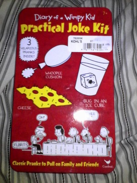 Free diary of a wimpy kid practical joke kit woopie for Diary of a wimpy kid crafts
