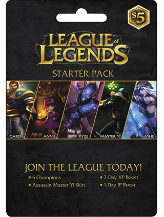 Free: $5 League of Legends Starter Pack Riot Points Gift Card -- GIN