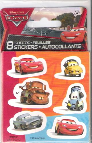 DISNEY PIXAR CARS STICKERS (48PCS)