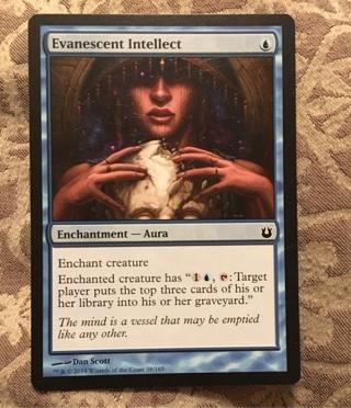 MTG Enchantment-Aura-Evanescent Intellect Magic The Gathering Trading/Game Card