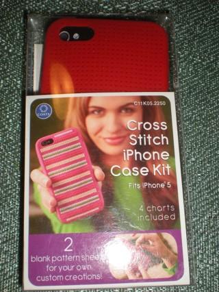 NIP Cross Stitch Iphone Case Kit RED
