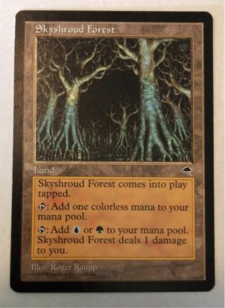 Skyshroud Forest - Rare Land - Tempest MtG