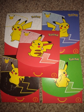 5 Unopened sealed Mcdonalds 5  packs with outer envelope and goodies Pokemon trading cards