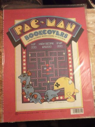 Pac-man bookcovers-NIP-from 1980